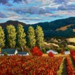 Poplars in the Vineyard